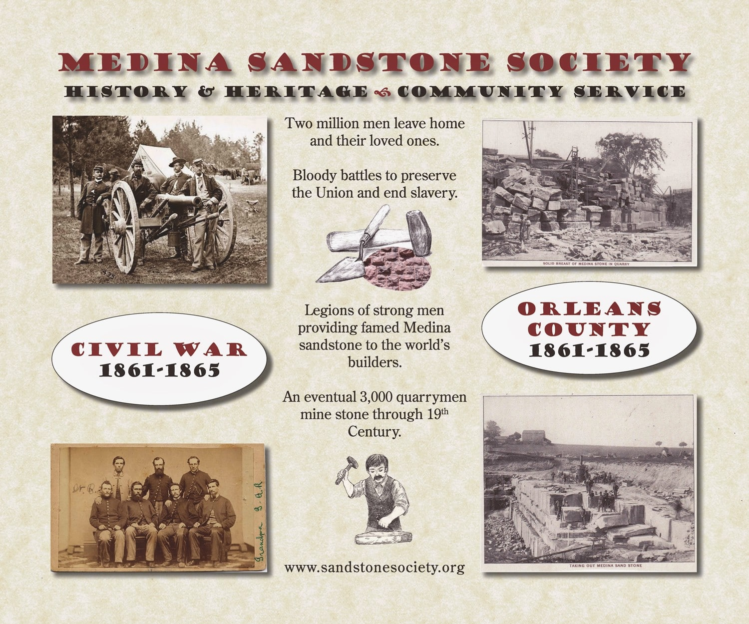 MSS banner created for GCC's Civil War Initiative, Apr. 2013
