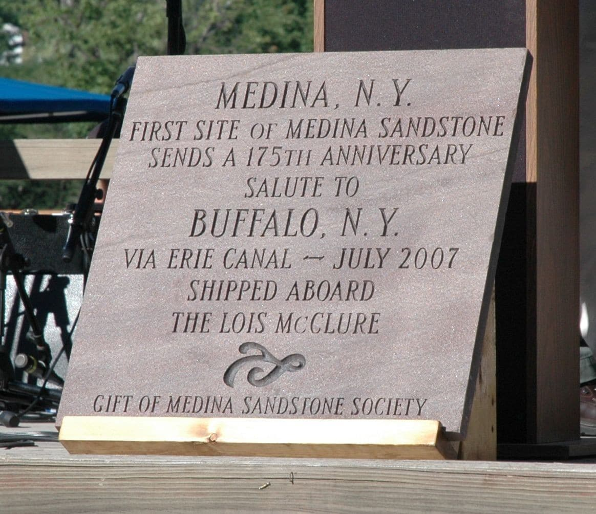 A gift from the Medina Sandstone Society to the City of Buffalo